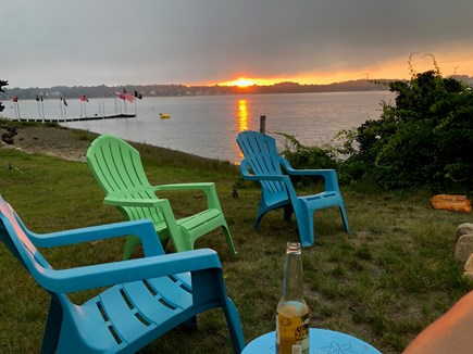 Bourne, Buzzards Bay Cape Cod vacation rental - Firepit overlooking stunning sunsets!