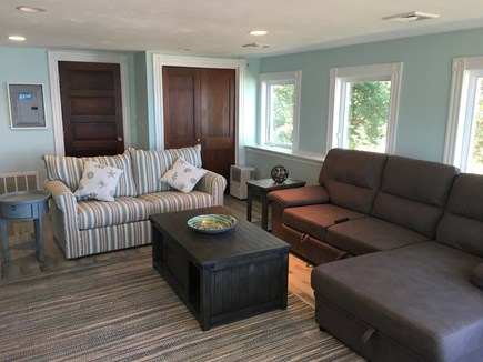 Bourne, Buzzards Bay Cape Cod vacation rental - Second floor living room, 2 queen sofa beds.