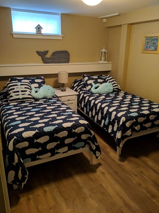 Falmouth Heights Cape Cod vacation rental - Twin beds in the finished basement.