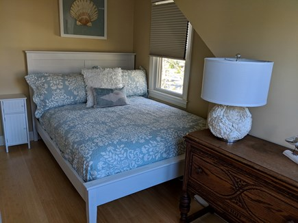 Falmouth Heights Cape Cod vacation rental - The Shell Room with Queen upstairs.