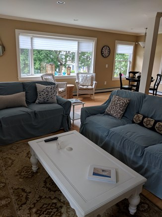 Falmouth Heights Cape Cod vacation rental - First Floor:  Open concept with plenty of seating in living room