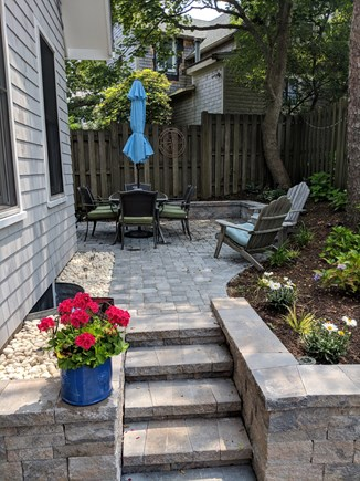 Falmouth Heights Cape Cod vacation rental - Private & shaded patio for coffee, dinner or just reading a book.