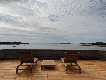 Wellfleet Cape Cod vacation rental - Mahogany roof deck with teak furniture