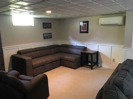 Brewster Cape Cod vacation rental - One of the two Lower Level Living Areas w/pull out sofa