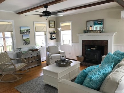 Brewster Cape Cod vacation rental - Fireplaced Open Living Room