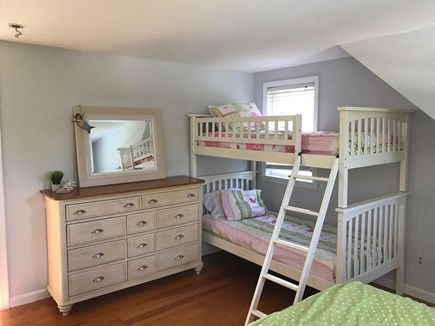 Brewster Cape Cod vacation rental - Bedroom with bunk beds and queen bed