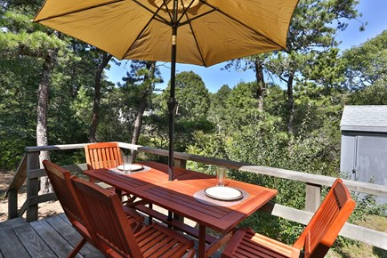 Truro Cape Cod vacation rental - Enjoy outdoor dining on the deck