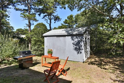 Truro Cape Cod vacation rental - Cookouts on gas grill with preparation stand