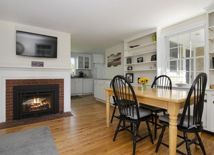Orleans Cape Cod vacation rental - Dining Area seats 6, next to Sitting Room and gas fireplace