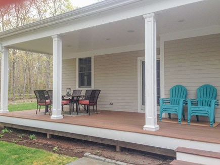 Eastham Cape Cod vacation rental - Back deck for dining