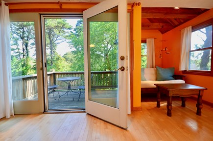 Eastham Cape Cod vacation rental - Private deck to enjoy morning coffee & listen to sounds of nature