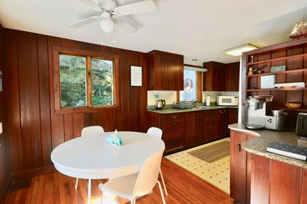 Eastham Cape Cod vacation rental - Full kitchen with breakfast table and brand new dishwasher