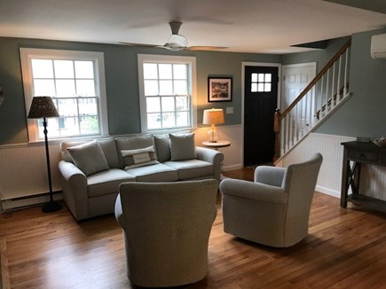 Harwich Port Cape Cod vacation rental - Living room with cable TV and comfortable seating.