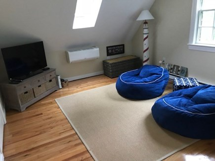 Harwich Port Cape Cod vacation rental - Bunk room includes TV, xBox and comfy seating.
