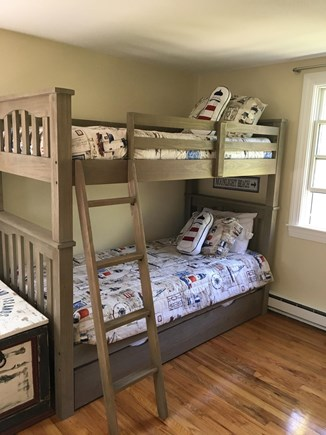 Harwich Port Cape Cod vacation rental - Upstairs bunk room with trundle.  Great space for kids cave.
