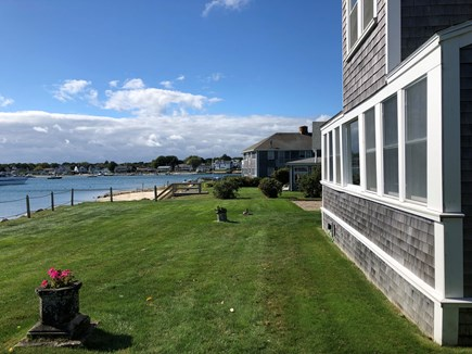 West Yarmouth Cape Cod vacation rental - Back yard on Lewis Bay