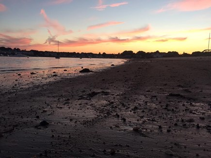 West Yarmouth Cape Cod vacation rental - Lewis Bay Sunset from Backyard