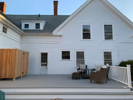Harwichport Center Cape Cod vacation rental - New Outdoor shower on New 30 x 15-foot deck overlooking 1 acre