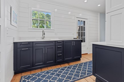 Harwichport Center Cape Cod vacation rental - Kitchen Bar Area Leading to new very large  Deck