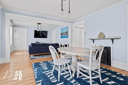 Harwichport Center Cape Cod vacation rental - Living room and Puzzle table