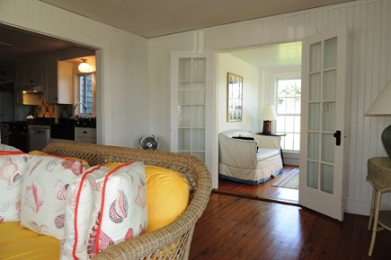 Harwich Port Cape Cod vacation rental - French doors from living room to dining/sitting room