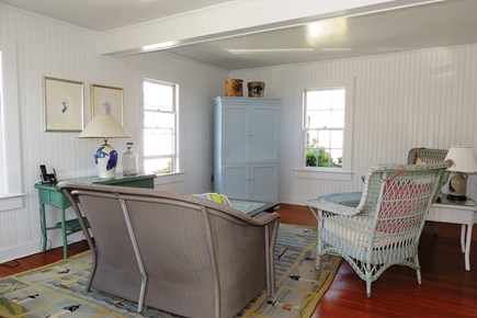 Harwich Port Cape Cod vacation rental - Light and Bright  family room with television