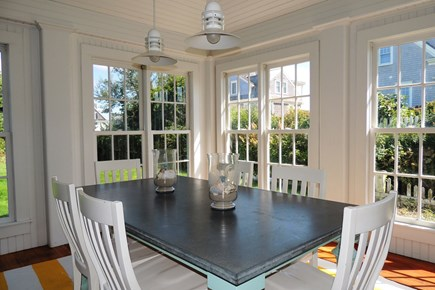 Harwich Port Cape Cod vacation rental - Beautiful dining area surrounded by windows
