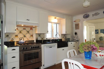 Harwich Port Cape Cod vacation rental - Beautiful granite counter tops, farmers sink and kitchen table