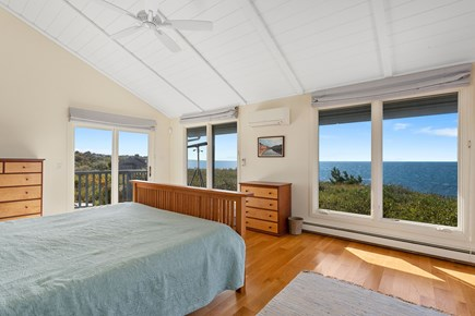 Truro Cape Cod vacation rental - Master Bedroom Suite enjoys superb views, opens to deck