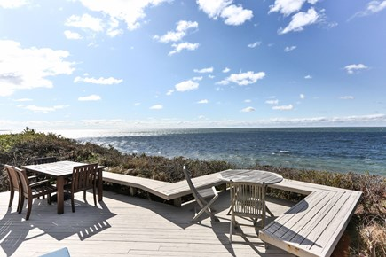 Truro Cape Cod vacation rental - Dining areas on the waterfront deck