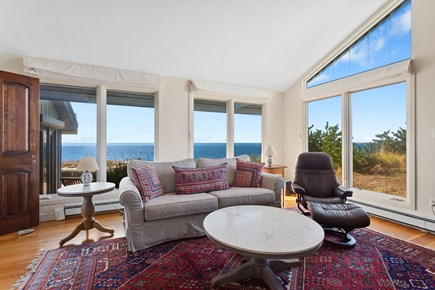 Truro Cape Cod vacation rental - Den closes off from living room, perfect office space