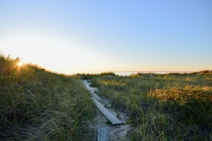 Truro Cape Cod vacation rental - Private path to the beach - quick and easy 2 minute walk