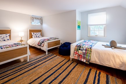 Chatham Cape Cod vacation rental - Bedroom 3 - upper level kids room with 2 twins and 1 full bed
