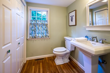 Chatham Cape Cod vacation rental - Main level half bath with washer & dryer