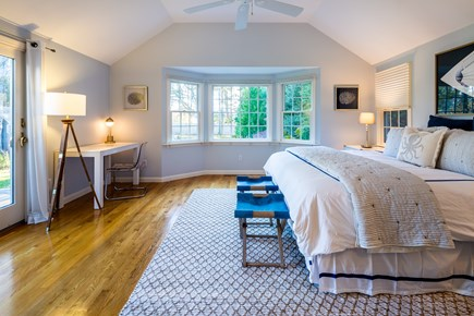 Chatham Cape Cod vacation rental - Main level master suite with king bed overlooking backyard