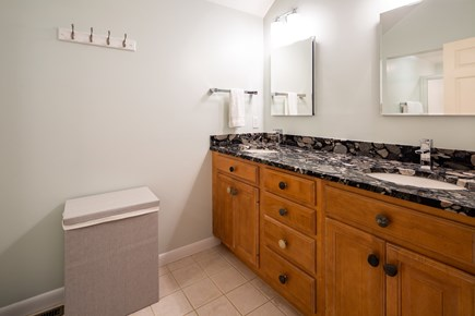 Chatham Cape Cod vacation rental - Master bath with stand up shower and double sink vanity