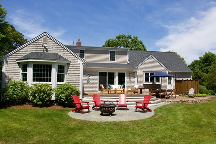 Chatham Cape Cod vacation rental - Large backyard with deck, patio and fully enclosed outdoor shower