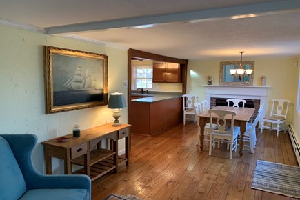 Eastham Cape Cod vacation rental - Entry area into dining and kitchen area