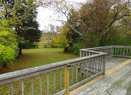 Orleans Cape Cod vacation rental - Deck area showing views towards marsh, water views at high tide