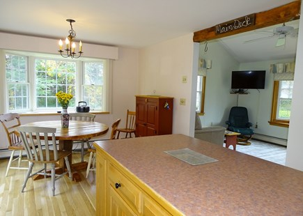 Orleans Cape Cod vacation rental - From kitchen, showing dining area, opens to living room