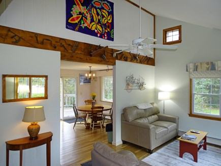 Orleans Cape Cod vacation rental - Entrance to house, showing vaulted ceilings, open floor plan