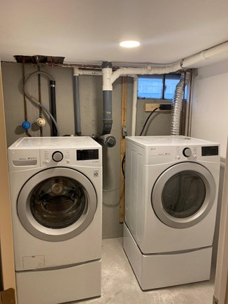 Mashpee, Popponesset Cape Cod vacation rental - Laundry room with new efficiency machines.