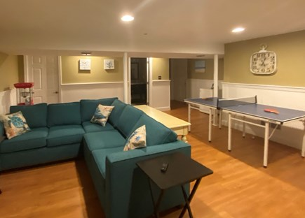 Mashpee, Popponesset Cape Cod vacation rental - Media room with ping pong, mini fridge and popcorn maker!
