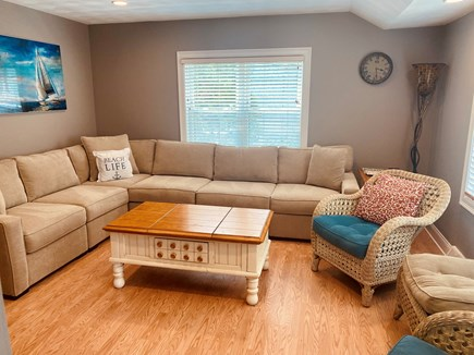 Popponesset Cape Cod vacation rental - Upstairs living area with big screen flat TV.