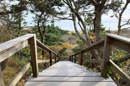 Hyannis Cape Cod vacation rental - Steps down to beach path
