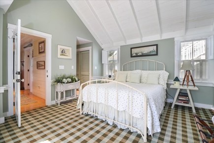 Hyannis Cape Cod vacation rental - First floor master bedroom with queen bed and attached bath