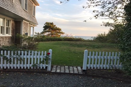 Hyannis Cape Cod vacation rental - Side gate and side yard