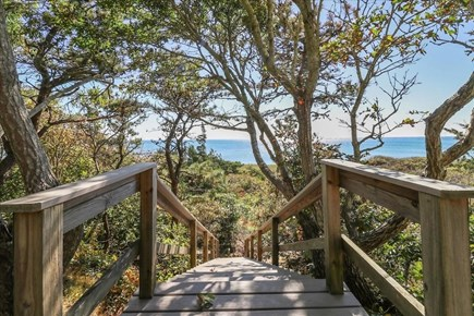 Hyannis Cape Cod vacation rental - Stairs down to beach path