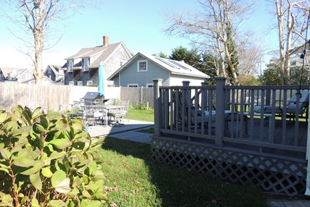 Harwich Port Cape Cod vacation rental - Deck with outdoor seating and gas grille