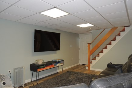 Harwich Port Cape Cod vacation rental - Lower level flat screen television